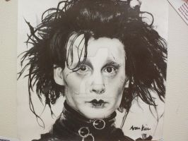 Drawing of Edward Scissorhands by ARKilyInspire