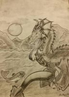Charcoal water dragon by Paige-Gale9507