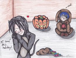 Sebastian Loves Halloween by DropDeadDraculina