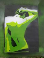 Man in green Stencil by moon-glaze