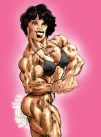New colored muscle lady by Ritualist