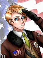 APH: America - Happy Birthday Alfred! 7.4.13 by Rizu-Chan003