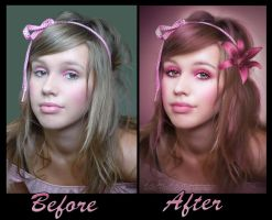 Before and After {Pretty in Pink} by debzdezigns-lamb68