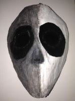 Split Black And White Mask by psychoslasher13