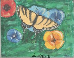Butterfly Watercolor by tinanewtonart