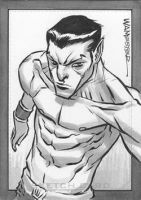 Sketch Card Commission NAMOR by jeffwamester