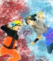 Naruto vs sasuke by Randazzle100