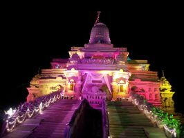 Dharmachakra Tirth Main Temple Light Effect 2 by sds49in