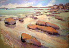 low tide in Brittany (Soft Pastel) by PatrickHENRY