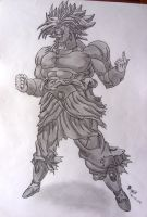 Drawing Broly by blazigatr
