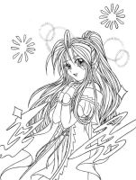 Cute Belldandy lineart by Anasatcia