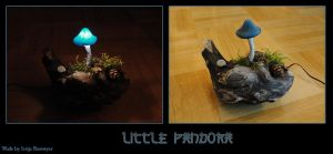Mushroom Light Little Pandora by Psydrache