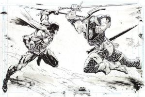 Robin Vs. Deathstroke by FreddieEWilliamsii