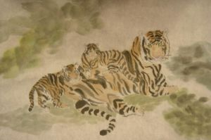 Tiger family-meadow by phoenixfyre6967