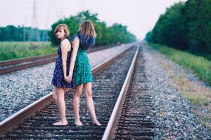 railroad tracks by thesophisticat