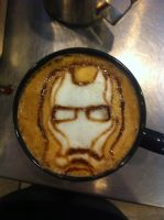 Iron Man latte by Coffee-Katie