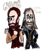 Galavant and Richard by SonicClone