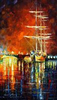 Burning Sky by Leonid Afremov by Leonidafremov