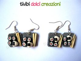 Sushi earrings by tivibi