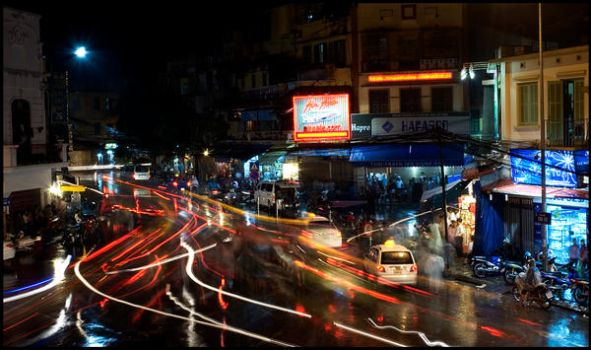 Ha Noi by Night by Aghris