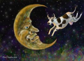 The Cow jumped over the Moon by ChuckRondeau