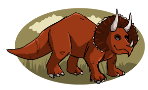 Triceratops by painted-flamingo
