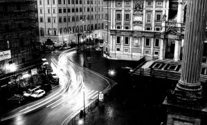 Rainy Night In Rome by superflyninja