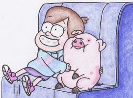 Mabel and Waddles by sophiemai