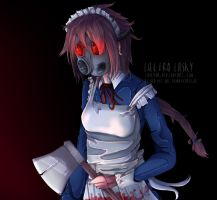 Gas Mask Maid by lasky111