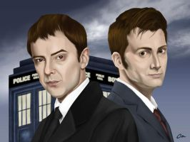 Dr. Who and The Master by chrismickens