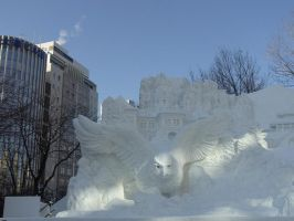 the BIG snow sculpture 8 by Akira-H