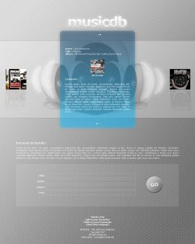 Musicdb beta version by k3isch by templateartists