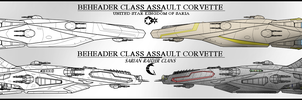 Beheader class Assault Corvette by Lineartbob