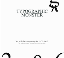 Typographic Monster by miksago