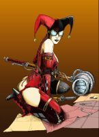 Steampunk Harley Quinn by jamesabels