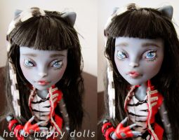 Monster high purrsephone repaint 1 by hellohappycrafts