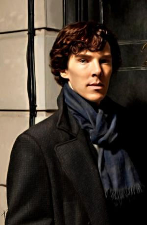 Sherlock at 221b by Nero749