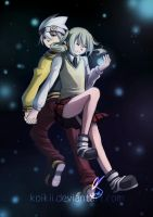 Maka and Soul by Koikii