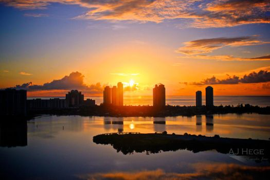 Miami Sunrise III by AJHege