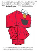 Cubeecaft - Elmo by CyberDrone