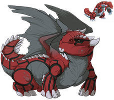 [Flight Rising] F- Snapper Dragon [Groudon Skin] by Shadow-Blood-Dragon