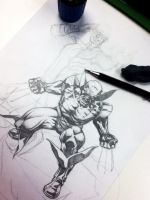 X-MEN COMISSION WIP by mvitacca