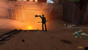 TF2 Screenshot. Sniper with his bendy arm by Minicheddarsx