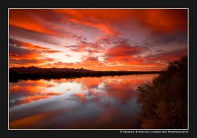 Colorado River Sunrise by gwrhino
