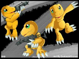 Agumon- Commission by DrakainaQueen