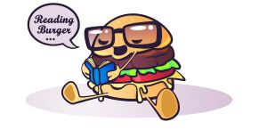 Reading Burger by D3Li-LIon
