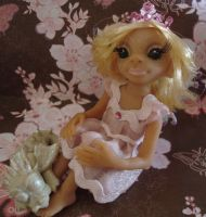 polymer clay  fairy isabella by crazylittlecritters