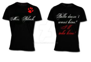 Twilight Fan Shirt Mrs. Black by Nita-xd