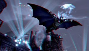 Batman Arkham City Anaglyph by Geosammy