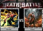 Death Battle : He-man vs Kratos by BlazingFury316
